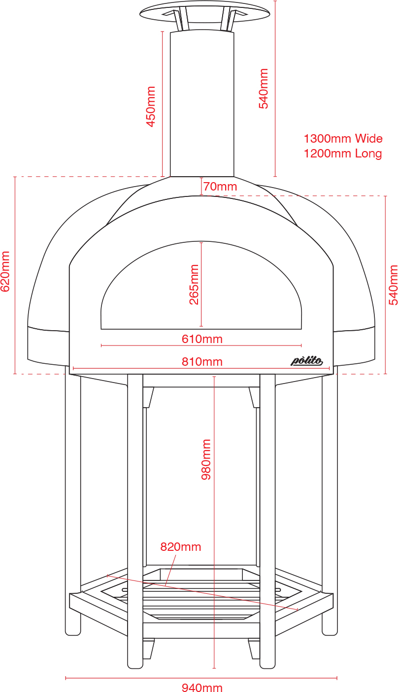 Donatello 2 Oven with Hexa stand