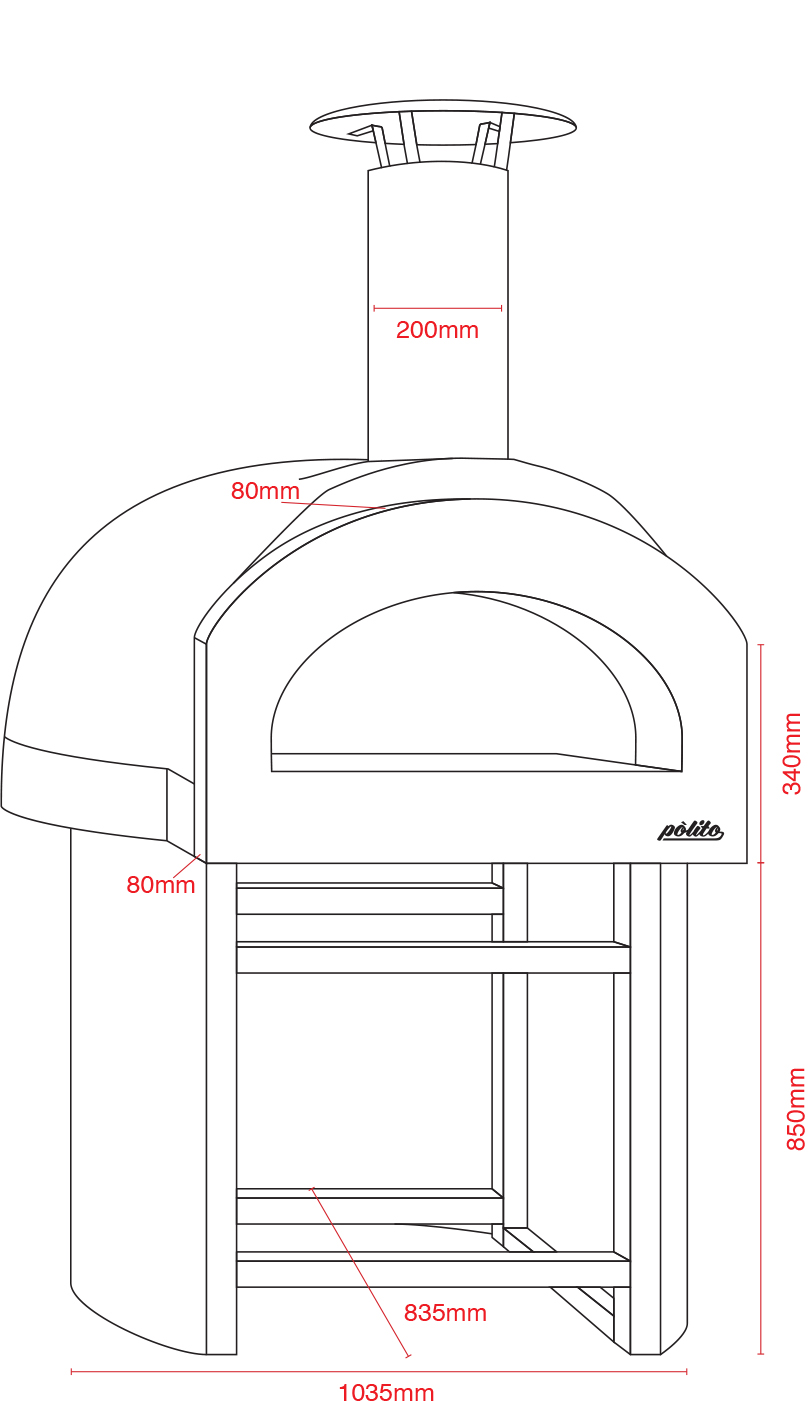 Donatello 2 Oven with Small round stand