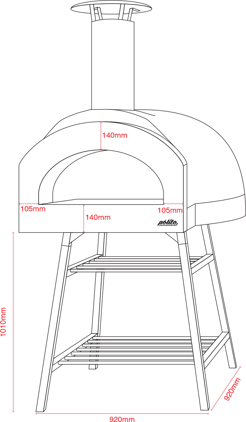 Donatello 2 Oven with Tower Stand